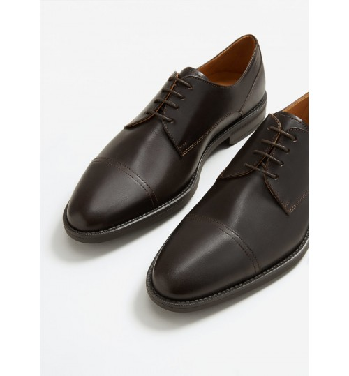 MANGO Leather Blucher Shoes