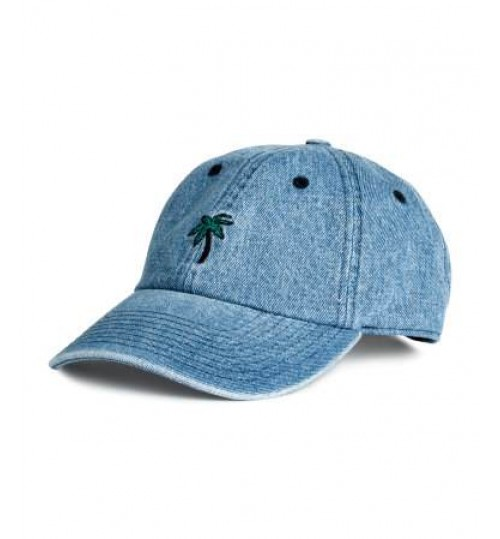 H&M Denim Cap With Appliqué