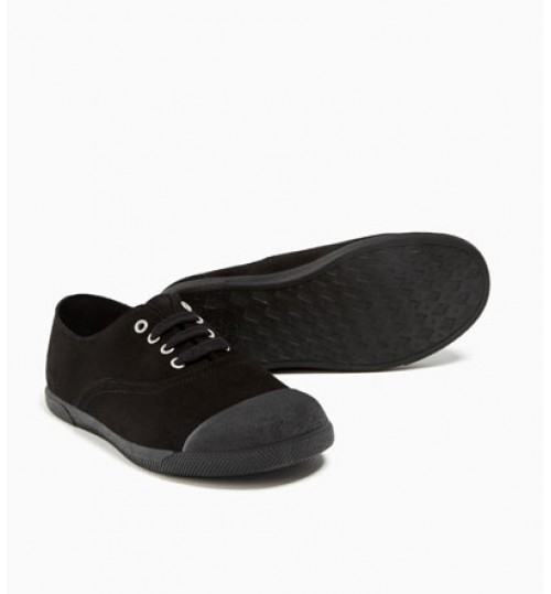 ZARA Kids Leather Fashion Plimsolls