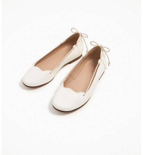 ZARA Kids Leather  Ballerinas  With Chords