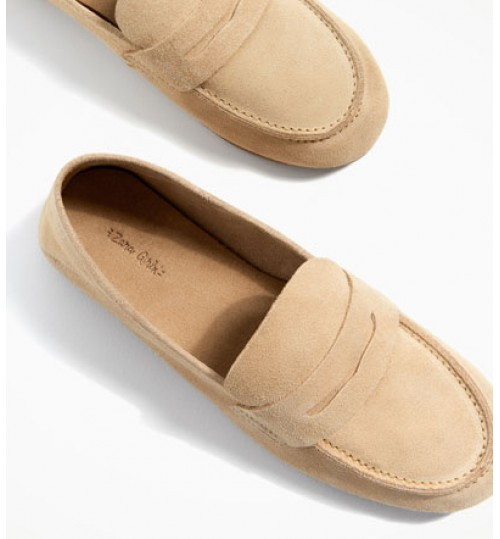 ZARA Kids Leather Loafers