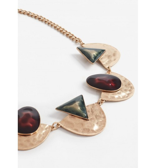 MANGO Geometric Pendant Necklace
