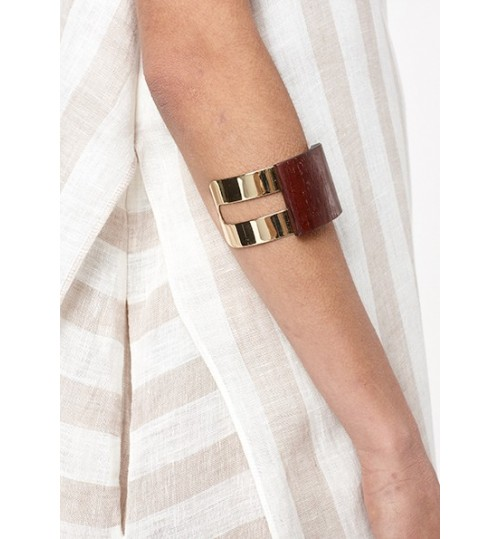 Riva Wood-Effect Cuff