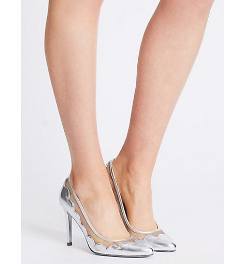 Marks & Spencer Stiletto Mesh Court Shoes With Insolia