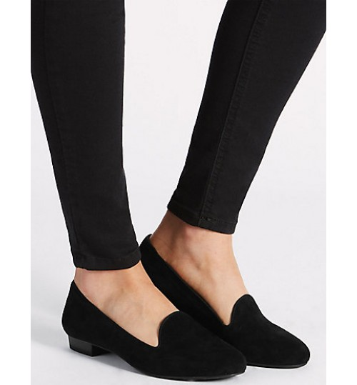 Marks & Spencer Suede Albert Pump Shoes