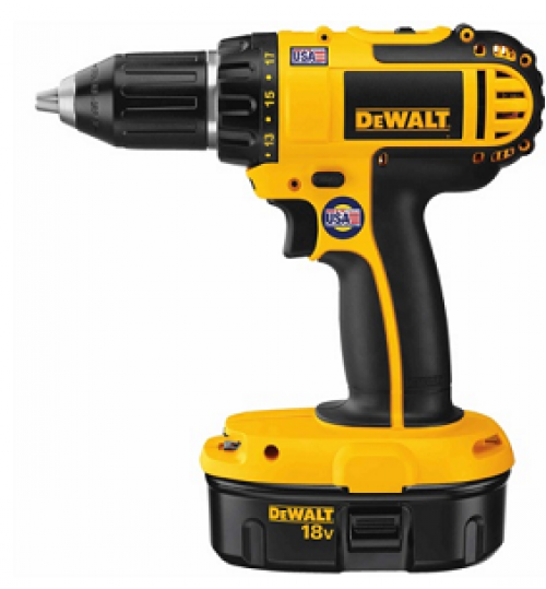 dewalt drill model DC720KA battery 18 volt size 1/2 inch agent guarantee