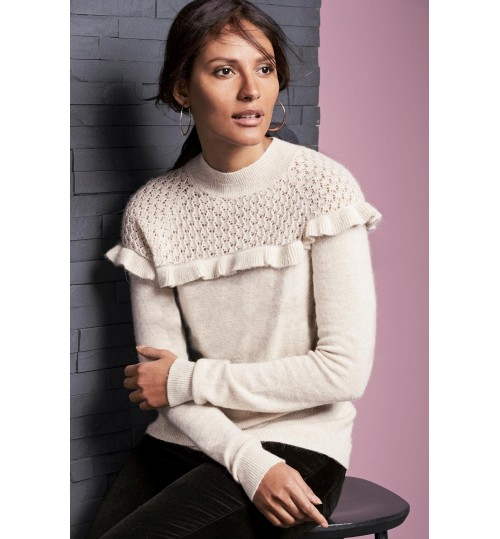 NEXT Pointelle Ruffle Sweater