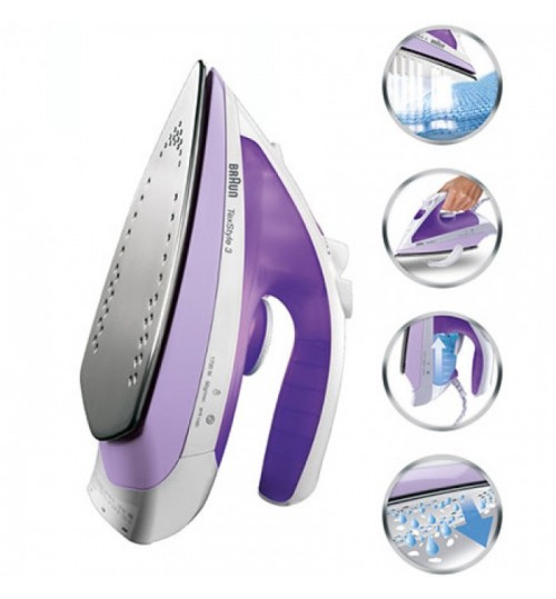 Braun 1700 Watts TexStyle 3 Steam Iron Model SI 320