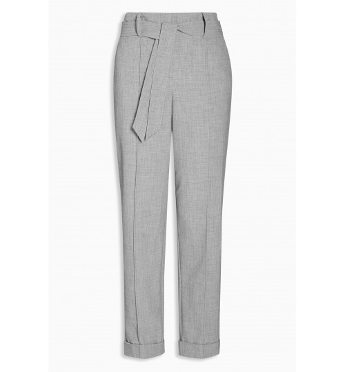 NEXT Belted High Waist Taper Trousers