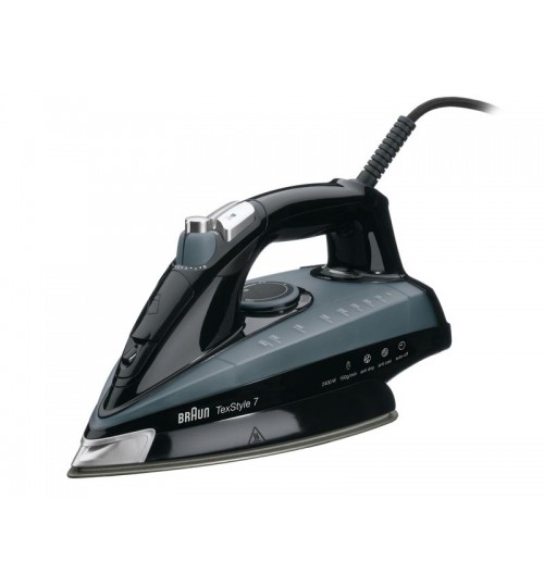 Braun 2400 Watts TexStyle 7 Steam Iron Black TS 745