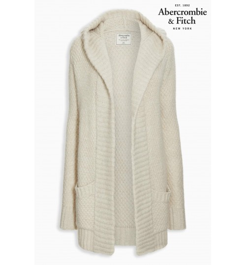 Abercrombie & Fitch Cream Knit Cardigan