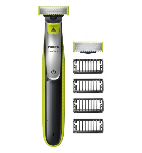 Philips OneBlade QP2530/30 Hybrid Trimmer and Shaver 4x Lengths and 1 Extra Blade