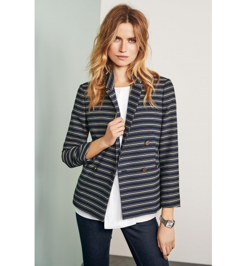 NEXT Stripe Double Breasted Blazer