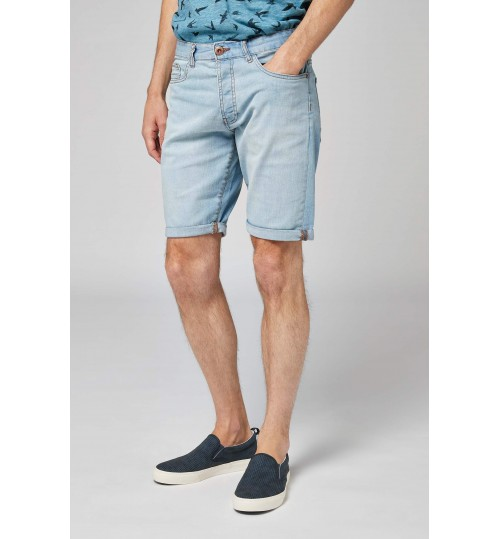 NEXT Bleached Denim Regular Fit Shorts