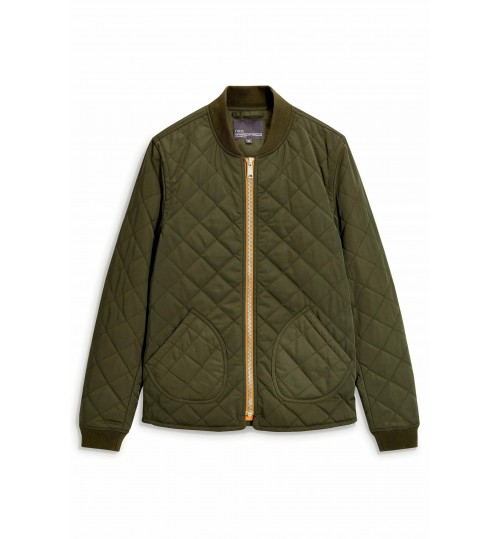 NEXT Khaki Quilted Bomber Jacket