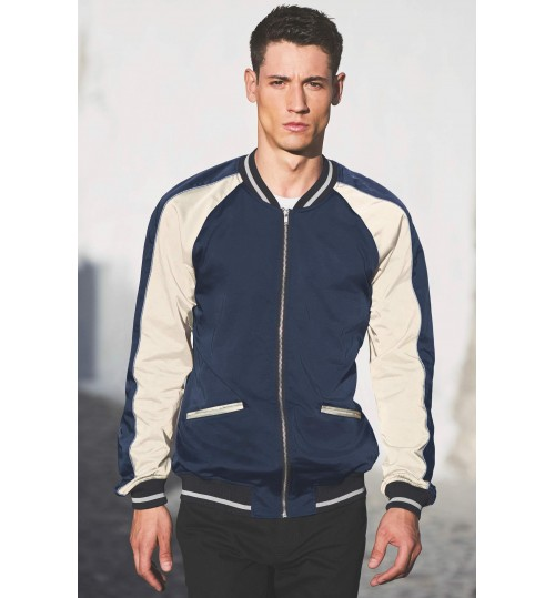NEXT Navy Sateen Bomber