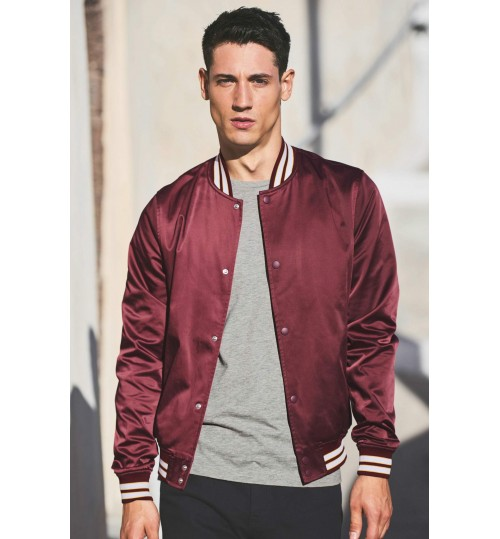 NEXT Burgundy College Sateen Bomber