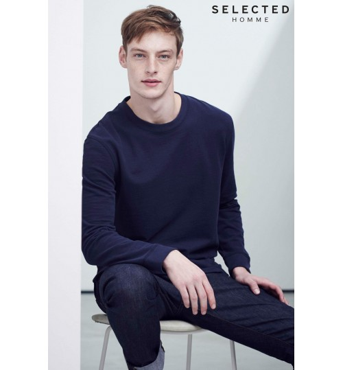 Selected Homme Navy Crew Neck