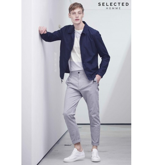 Selected Homme Navy Lightweight Coach Jacket