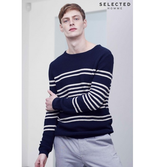 Selected Homme Breton Stripe Jumper