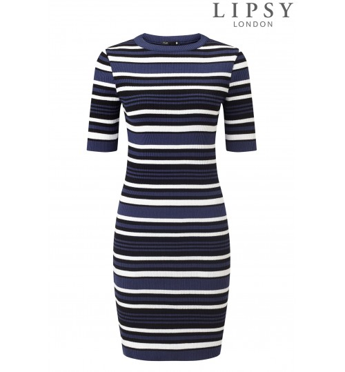 Lipsy Stripe Knitted Dress