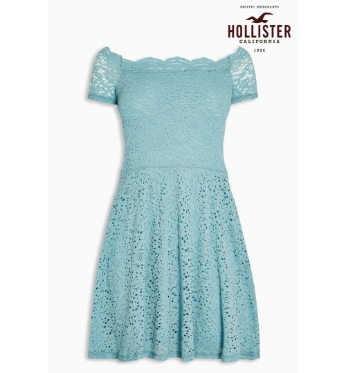 Blue Hollister Blue Lace Dress