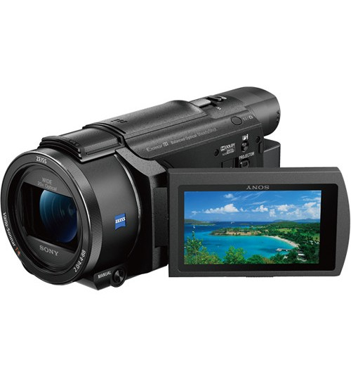 Sony camera,Sony 64GB FDR-AXP55 4K Handycam with Built-In Projector PAL,HDR-AXP55