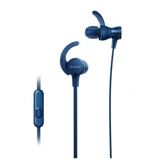 Sony Headphones, Extra Bass,MDR-XB510AS, In-Ear Sports Headphones with Mic,Blue