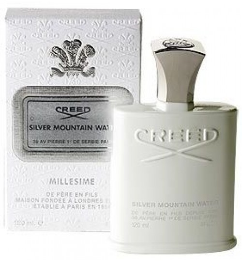 Creed Perfume,Silver Mountain Water,For Men,120ml, Eau de Parfum,Millesime Spray