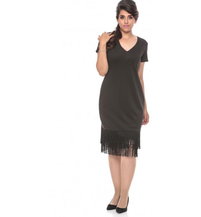 GODDIVA DR688P Plus Size Short Sleeve Flapper Dress for Women - 16 ...