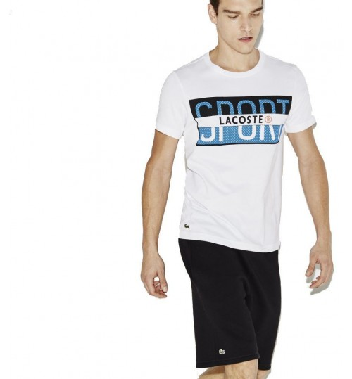Lacoste T-Shirt for Men - White - Size 5 US - 094116 0VM