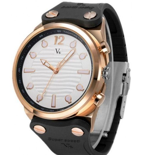 V6 Casual Watch For Men Analog Silicone