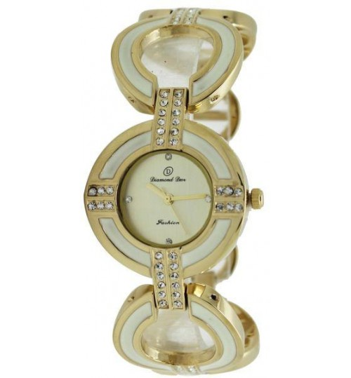 woman watch Diamond Dior Golden and white