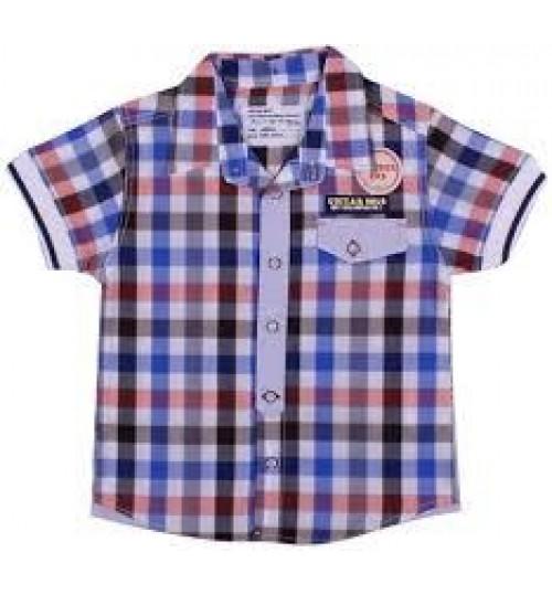 عزيز بيبي 019126 قميص نص كم للأولاد - ملون ( 12 شهر )