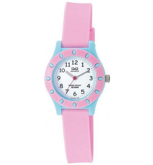 Q&Q Kid's White Dial Plastic Band Watch - VQ13J012Y