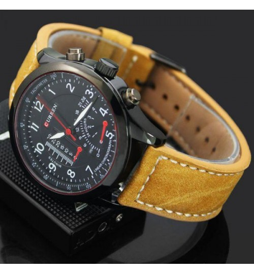 Curren for Men - Sports Leather Band Watch - 8152