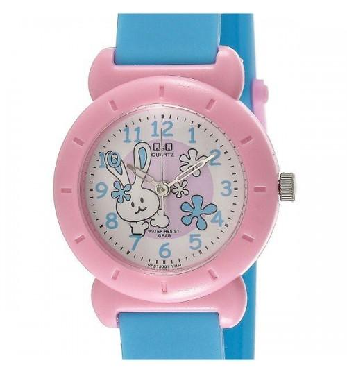 Q&Q Kid's White Dial Plastic Band Watch - VP81J001Y