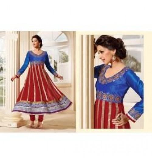 Sonali Bendre Bollywood Designer Anarkali Salwar Kameez with Dupatta-9168-fwc21000410