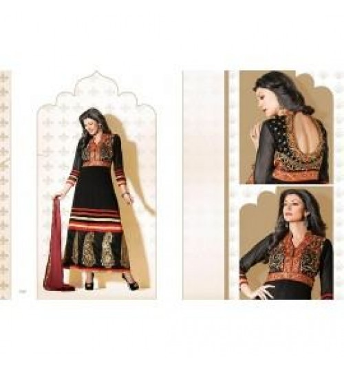 Sushmita Sen Exclusive Designer Anarkali Semi-Stiched Dress material - 11011-fwc21000402