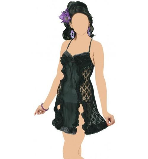 Ladies Nightwear Sleepwear,Black,Free Size