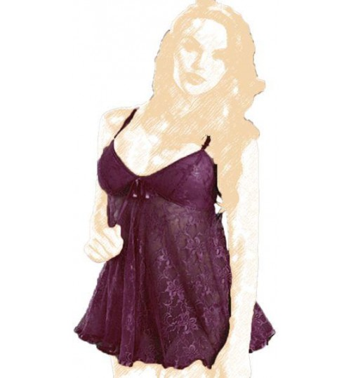 Lase Women Camisoles & Chemises Size L - Purple