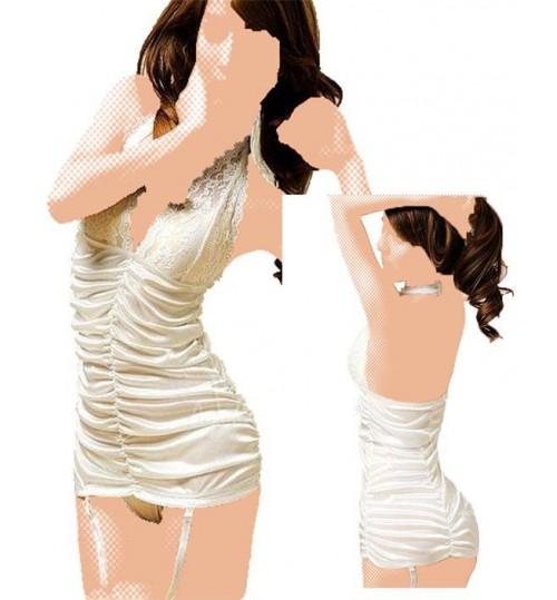 Atyaf Alqamar Women Babydoll Shapewear Free Size - White
