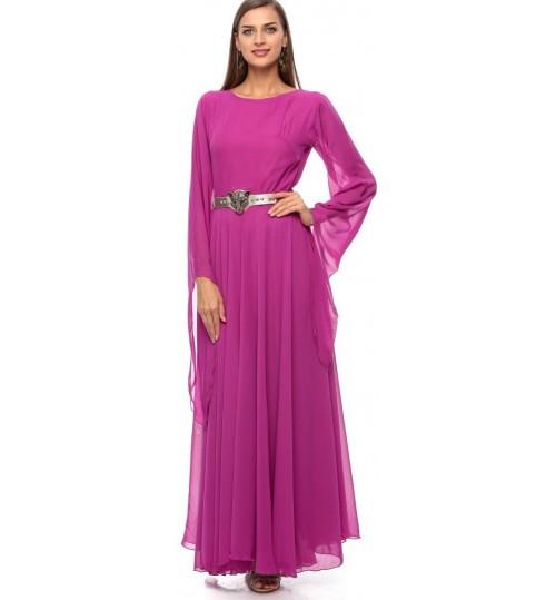 Reeta Samaha A Line Dress for Women - L, Purple