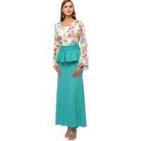 Reeta Arwa Layered Dress for Women - XL, Mint Green