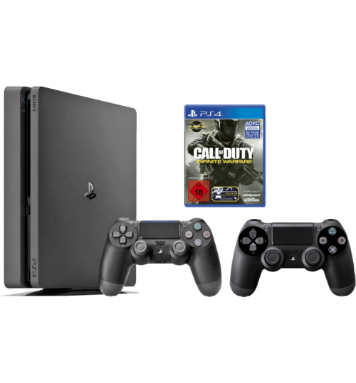 PlayStation 4 ,Sony,1TB,Plus Call of Duty ,Extra  Controller,Guarantee 2 Years from Agent Sony Saudi Arabia