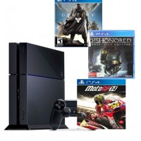 PlayStation 4 ,Sony,1TB ,With 3 Games ,Destiny,Dishonored,Moto GP14 ,Guarantee 2 Years from Agent Sony Saudi Arabia