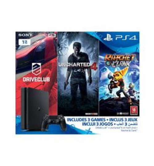 Playstation 4 Sony,PS4,1TB with Driveclub,Uncharted4 and RatchetCUH-2016BB+Uncharted4+DRIVECLUB+RATCHET,Agent Guarantee