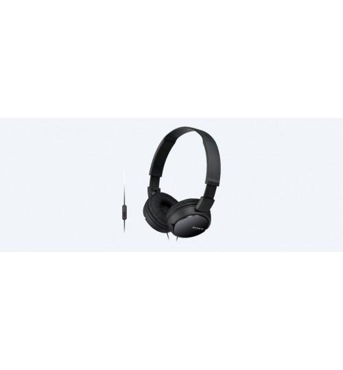 Headphone Sony,ZX110 Headphones,Black,MDR-ZX110AP,Agent Guarantee