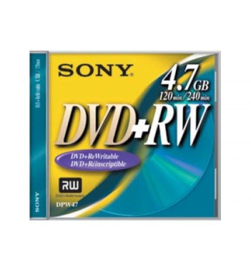 Sony DVD,Sony Rewritable DVD+RW Disc,DPW47C