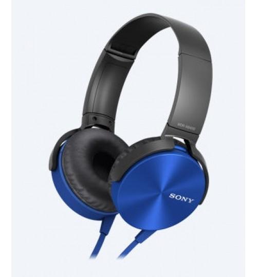 HeadPhones Sony,XB450AP,EXTRA BASS Headphones,5-22000 Hz,Blue,Agent Guarantee